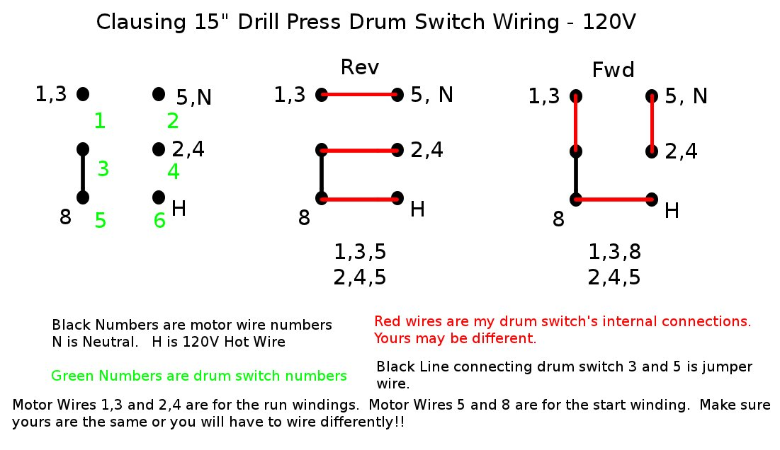 Drum Switch Wiring Schematic - Wiring Diagrams IMG on